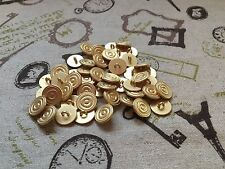 50 Metal Buttons Gold Shank 15mm Blazer Cardigan job lot Arts & Crafts (217)