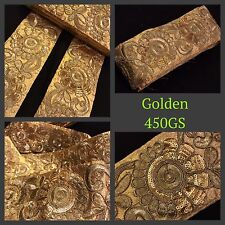 9 Meter Fancy Gold Zari Embroidery Trim Saree Tissue Border Sew on Sequin Lace