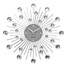 Karlsson Modern Sunburst Crystal Wall Clock Designer Stylish Home Art Decor New