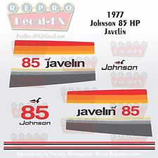 1977 Johnson 85HP Javelin Outboard Reproduction 17Pc Vinyl Decals MagnaFlash CD