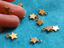 20 gold star charm pendant tibetan silver beads jewelry making wholesale bulk uk