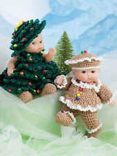 "Cute as Pie baby DOLL CLOTHES TO CROCHET for 5"" itty bitty dolls -"