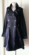 Green with Envy Double Breasted Flowing Trench Walker Overcoat Dress sz L Chintz