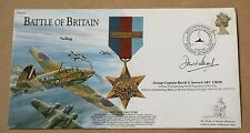 BATTLE OF BRITAIN STAR 2001 COVER SIGNED BY GROUP CAPTIAN DAVID SEWARD