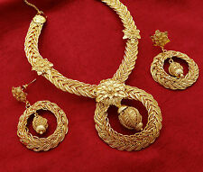 Indian Women Bridal Goldplated 2PC Necklace Set Ethnic Bollywood New Jewelry
