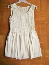 @ OVS @ great sleeveless dress cream Lace for Fixed Size 134/140 Age 8 - 9