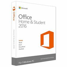 Microsoft Office Home & Student 2016 - Deutsch - DVD - NEU