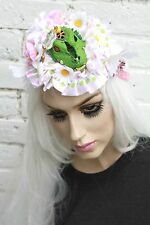 Croc monster pastel pom pom floral kawaii lolita freaky rave head band