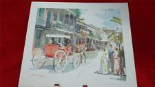 """C.C. Beall print """"French Quarter New Orleans"""" by Donald Art Company NY 1957"""