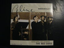 Celine Dion with The Bee Gees IMMORTALITY European 2-trk CD Single Cardboard PS