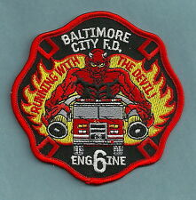 BALTIMORE CITY FIRE DEPARTMENT ENGINE COMPANY 6 PATCH