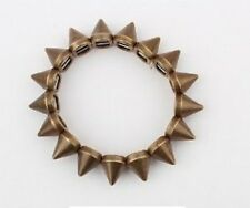 Women's Punk Spike Stretch Vintage Bracelet Jewellery Retro Costume Accessory