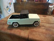 Vintage 1960's Tonka Light Green Jeepster W/Canopy Top 13""