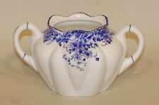 Shelley England Fine Bone China Dainty Blue Sugar Bowl Base ONLY (No Lid)