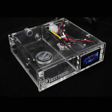 Acrylic Reservoir Single CD Rom Bay Water Tank G1/4 Thread With LED Thermometer