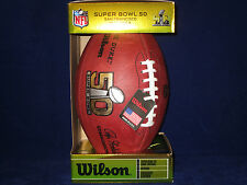 WILSON OFFICIAL SUPER BOWL 50 AUTHENTIC FOOTBALL - Broncos Panthers NFL LICENSED