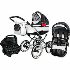 Babybuu Pretty Woman 2 Kombikinderwagen/Kinderwagen klassisch/Retro 3 in 1
