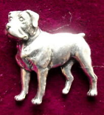 Pewter Rottweiler Dog Brooch Pin Quality