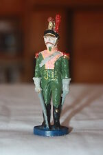 """VINTAGE OLD WORLD LEAD SOLDIER W/ SWORD SCABARD 90mm HIGH 3 1/2"""" X 1"""""""