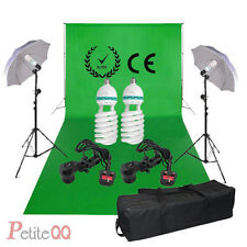 3.2x 6m Chromakey Green Screen Lighting Kit+Backdrop Background Stand set 2x125W