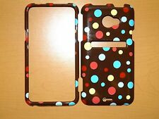 SPRINT HTC EVO LTE POLKA DOTS SNAP ON COVER/CASE NEW