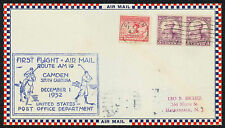 1932 FIRST FLIGHT AIR MAIL ROUTE AM 19 - CAMDEN, SC TO COLUMBIA, SC  (ESP#1533)