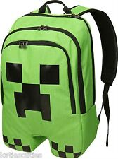 Free Shipping Officially Licensed Full Size Minecraft Creeper Backpack Book Bag