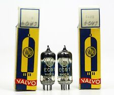NOS Matched Pair Valvo EC91 6AQ4 Amplifier Tubes Made in England Blue Glass