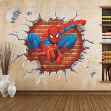 Spiderman 3D View Removable Kids Boys Room Decor Wall Sticker Mural Art Decal