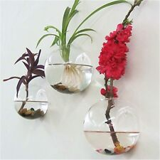 Hanging Glass Flower Planter Vase Terrarium Container Home Garden Ball Decor US