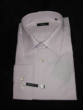 SARAR CHEMISE MANCHES LONGUES TAILLE 46 LILAS CLAIR UNI SLIM FIT