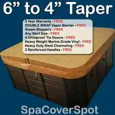 "ThICKEST 6"" to 4"" Taper Hot Tub Cover - FREE Shipping - BEST for Cold Climates"