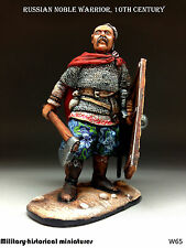Russian warrior Tin toy soldier 54 mm, figurine, metal sculpture HAND PAINTED