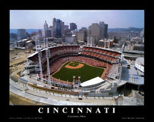 Cincinnati Reds Baseball GREAT AMERICAN BALLPARK Gameday Aerial Poster