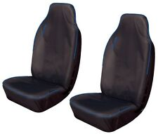 RENAULT KANGOO VAN Heavy Duty Waterproof Seat Covers in BLACK with BLUE Piping