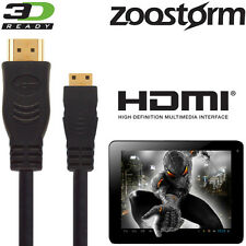Zoostorm SL8 Mini, Playtab 3305-1030 Android Tablet PC HDMI Mini to TV 5M Cable