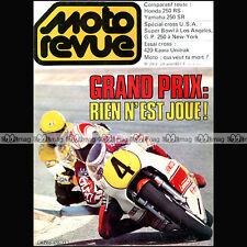 MOTO REVUE N°2472 HONDA CB 250 RS YAMAHA SR KAWASAKI KX 420 JOHNNY CECOTTO 1980