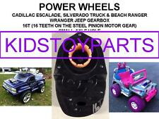 One 16T POWER WHEELS JEEP WRANGLER AND BARBIE RANGER GEARBOXES GEN 3 UPGRADE