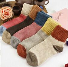 5Pares Mujer Calcetines Mezclados De Lana Colores Medias invierno Socks