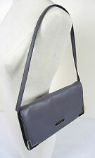 MICHAEL KORS LEATHER CLUTCH Heather GRAY Beverly SHOULDER BAG NWT MSRP $228