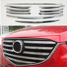 9pcs  Chrome Front Grille molding line Cover Trim For Mazda CX-5 CX5 2015 2016