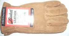 Lambert 415 Brown Suede Leather Gloves Size Small USA Made