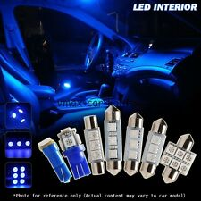 6x Blue LED Bulbs Interior Lights Package Kit Deal for Toyota Corolla 1998-2002