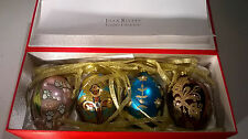"Joan Rivers Classic Collection 2009 Set/4 Russian Inspired Egg Ornaments ""RARE"""