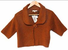 Mary Firenze NEW L Spice Brown Shrug Sweater Made in Italy NWT Wool Blend Large