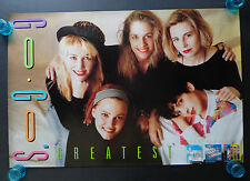 THE GO-GO'S  -  GREATEST  -  ORIGINAL  ROCK PROMO POSTER  (1990)