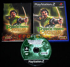 ROBIN HOOD DEFENDER OF THE CROWN Ps2 Versione Italiana 1ª Edizione •••• COMPLETO