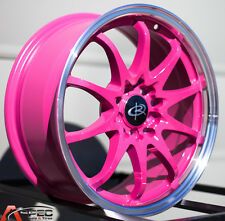 PINK 16X7 +40 ROTA FIGHTER 10 5X114.3 FIT MAZDA 3 6 CAMRY ECLIPSE GALANT LANCER