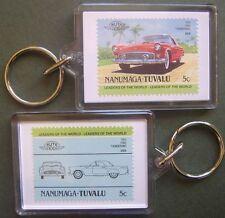 1955 FORD T-Bird Thunderbird Car Stamp Keyring (Auto 100 Automobile)