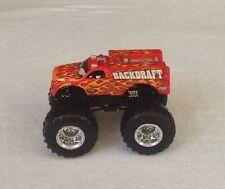 BACKDRAFT Hot Wheels Monster Jam Truck 1:64 Firefighter Fire Flames Hotwheels